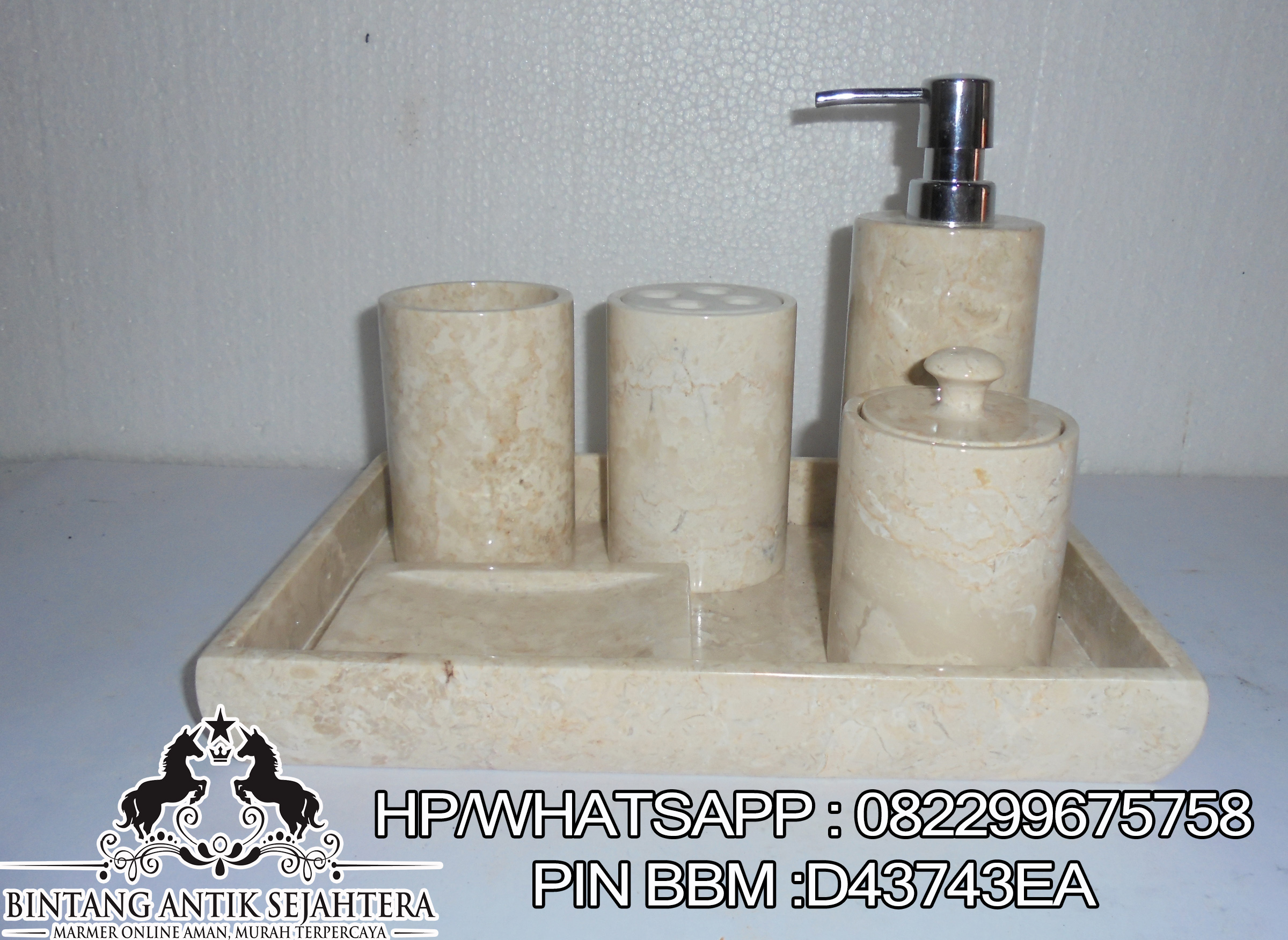 Bathroomset Marmer Murah
