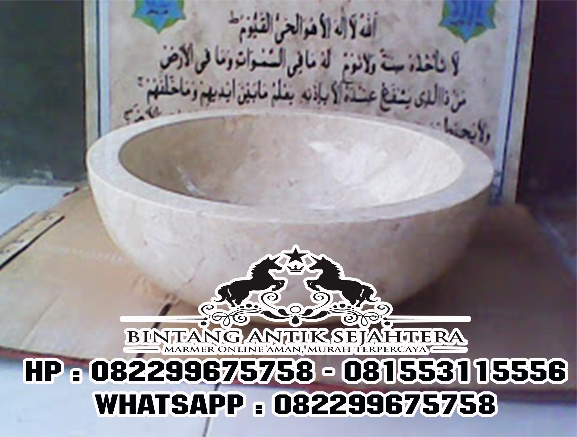 Wastafel Bulat Berbahan Marmer | Jual Wastafel Bulat bahan Marmer