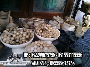 Set Telur Batu Marmer, Batu Marmer Bentuk Telur, Replika Telur Marmer