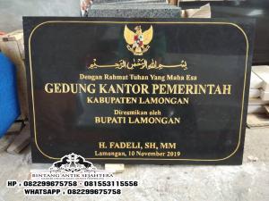 Papan Nama Prasasti Peresmian Granit, Jual Prasasti Peresmian Granit Black Gold