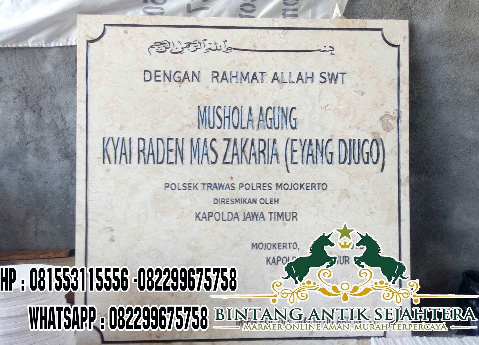 Prasasti Peresmian Dari Marmer, Papan Peresmian Marmer, Pembuat Prasasti Marmer Di Surabaya, Batu Nisan Prasasti Granit, Harga Prasasti Marmer Dan Granit