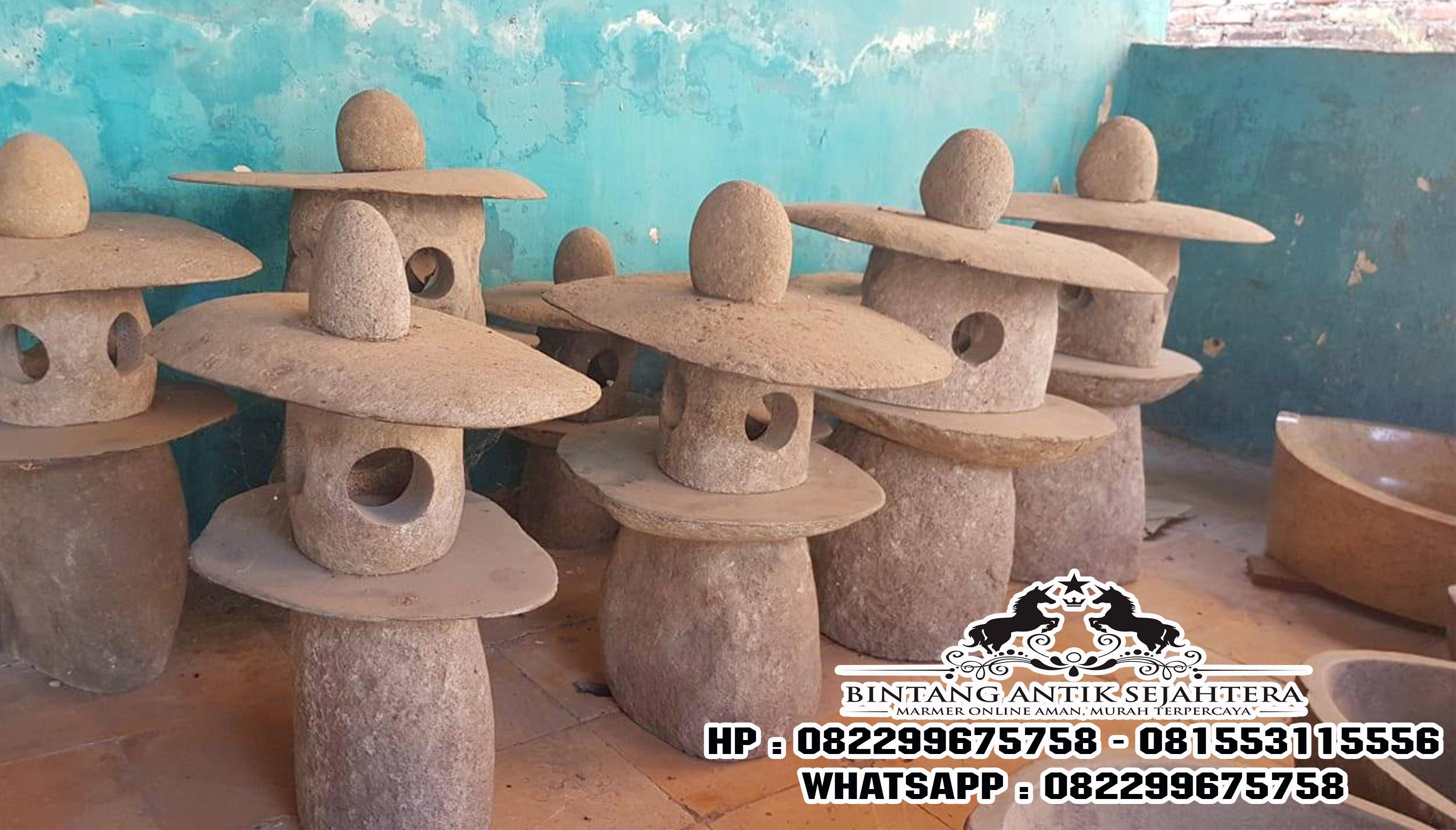 Lampu Taman Batu Kali Lampion, Lampu Taman Batu Alam, Harga Lampu Taman Batu Kali Murah