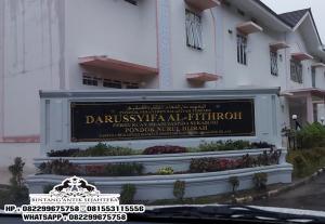 Papan Nama Masjid Ukir Bahan Marmer, Papan Nama Sekolah Marmer Granit