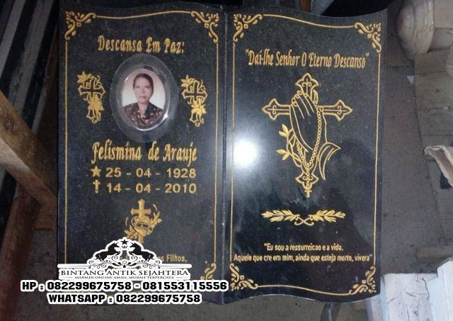 Model Terbaru Nisan Kuburan Islam Kristen di Tulungagung
