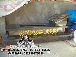 Contoh Model Makam Islam Granit Marmer Bermotif Alam